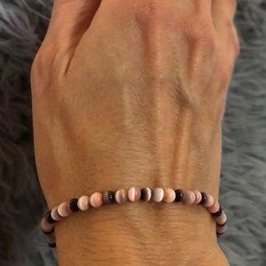 Vintage 🐱 👁 Pink & Purple Elastic Bracelet